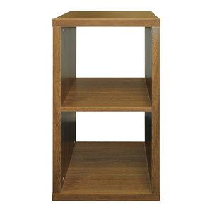 Cube 2-Cubby Square Display Shelf, Oak