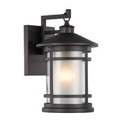 """ADESSO, Transitional 1 Light Rubbed Bronze Outdoor Wall Sconce, 14"""" Height"""