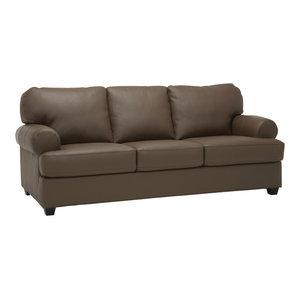 Marjorie Top Grain Leather Sofa Oliver Pierce