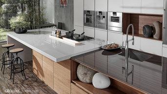 Geoluxe Eramo & Nestos Gray (Polished) Kitchen Installation