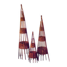 Willow Round Obelisk, 12l""