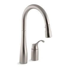 "Kohler Simplice Kitchen Faucet w/ 16-1/8"" Pull-Down Swing Spout"