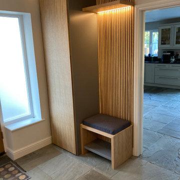 Entranceway Coat Cupboard and Bench