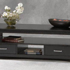 Linon Home Decor Products Coffee Table W 2 Drawers In Black Finish Coffee Tables