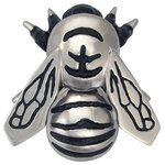 Michael Healy Designs - Bumblebee Door Knocker, Nickel Silver, Premium - Create a buzz with this beautiful Bumblebee Door knocker. A bright reminder to cherish the community around and within our homes. Cast in solid brass and hand finished, the Bumblebee Knockers are unmatched in quality and craftsmanship. Surface mounted so there is no visible hardware from the inside, they are available in Premium or Standard size's in three finishes.