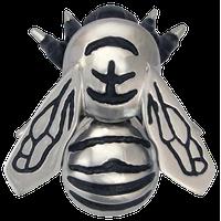 Bumblebee Door Knocker, Nickel Silver, Premium