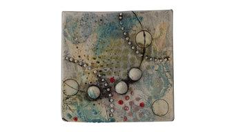 Handmade Ceramic Tile Wall Plaque III