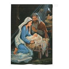 "Nativity 28x40"" USA-Produced Home Decor Flag"