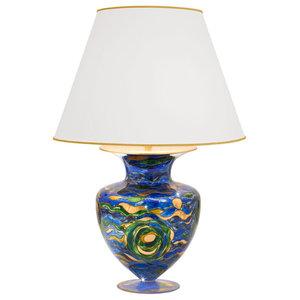 Anfora Aqua Table Lamp, Blue, Large