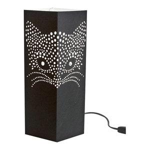 Cat Paper Table Lamp, Black