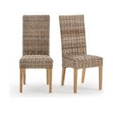2 стула  kubu с высокой спинкой, INQALUIT   LA REDOUTE INTERIEURS