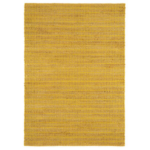 Ranger Mustard Rectangle Plain/Nearly Plain Rug 100x150cm
