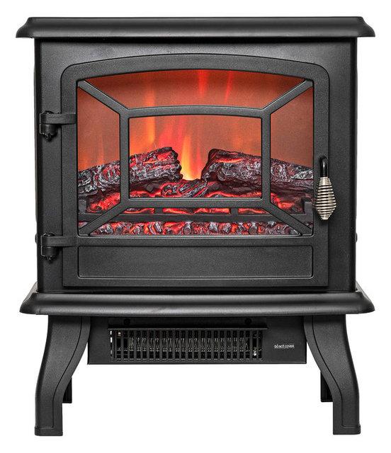 Portable Electric Fireplace Black