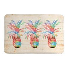 Laural Home Colorful Pineapple Memory Foam Bath Mat