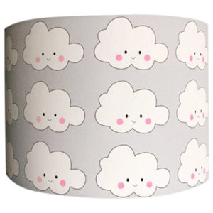 Patterned Lampshade, Cloud Face, 35x20 cm
