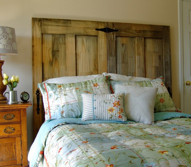 Make your own rustic chic headboard from salvaged doors - Make your own headboard ...