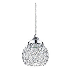 Sunlite Lfx/Pd/Ch/9W/D/30K 3000K Warm White 9W Crystal Pendant Light Fixtures