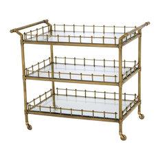 Eichholtz Scarlett Bar Cart, Brass