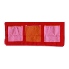 Kids World Bed Storage Pockets, Pink and Red