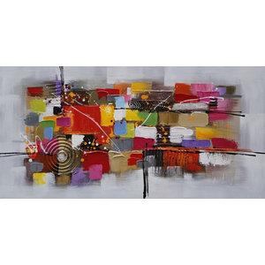 """QuadratumWide"" Acrylic Painting, 140x65 cm"