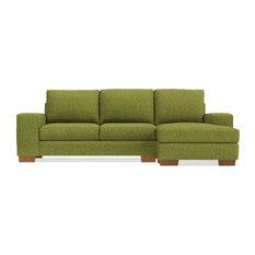 Apt2B   Melrose Reversible Chaise Sofa, Green Apple   Sectional Sofas