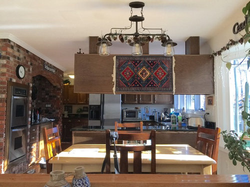 Need Ideas To Decorate The Backside Of Older Suspended Kitchen Cabinet