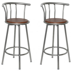 VidaXL Set of 2 MDF Bar Stools Steel Frame