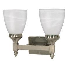 Nuvo Lighting 60/592 Triumph Vanity Light Bathroom Fixture, Brushed Nickel