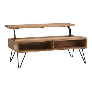 Hunter Natural Mango Wood Lift-Top Coffee Table