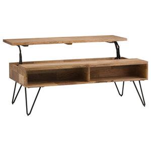 Hunter Natural Mango Wood Lift-Top Coffee Table