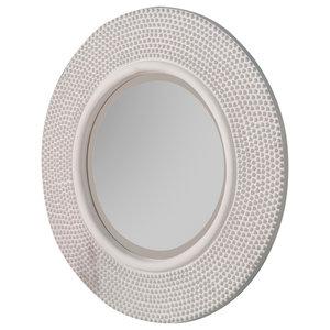 Brienne Wall Mirror, White, 79x79 cm