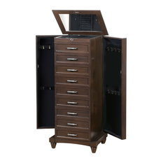 9 drawer Jewelry Armoire with Cushions