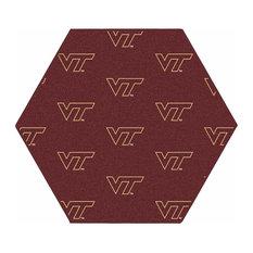 NCAA My Team College Repeating Rug Virginia Tech, 10' Hexagon