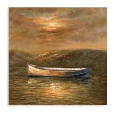 Bassett Mirror Sunset Canoe Wall Art in Canvas Wrap