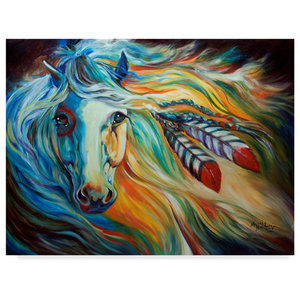 Marcia Baldwin White Cloud The Andalusian Stallion Canvas Art Contemporary Prints And Posters By Trademark Global Houzz