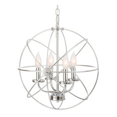 Modern chrome orb chandeliers houzz light go inc 15 4 light modern sphereorb chandelier aloadofball Image collections