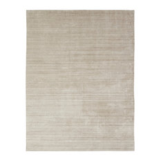 "MERIDIAN Chino Hand Made Wool and Silkette Area Rug, Off-White, 8'6""x11'6"""