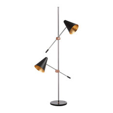 "Safavieh Reed 71"" High Floor Lamp, Black"