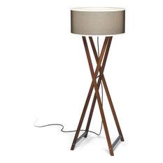 Marset Cala Outdoor Floor Lamp, Iroko Wood