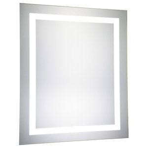 "LED Hardwired Mirror Rectangle W20""H30"" Dimmable 5000K"