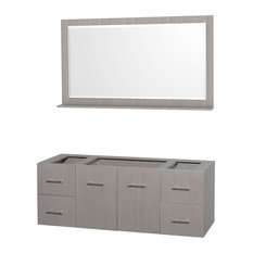 "Centra 60"" Single Bathroom Vanity, Gray Oak, No Countertop, No Sink"