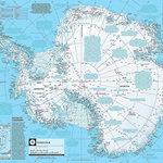 Magic Murals - Antarctica Map Wallpaper Wall Mural, Self-Adhesive - Antarctica Map Wall Mural