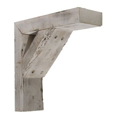"3 1/2""W x 8""D x 8""H Vintage Farmhouse Bracket, Chalk Dust White"
