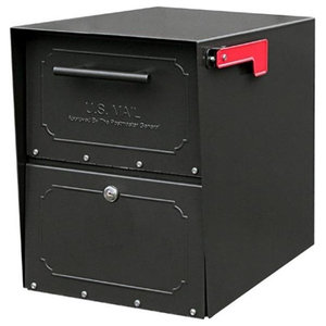 "Architectural Mailboxes 6200B10 Oasis Jr. Curbside Locking Mailbox 15""x11.5""x18"""