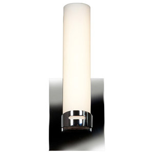 """Bathroom Vanity 1-Light With Chrome Finished and Metal Material, 13"""", 12W"""