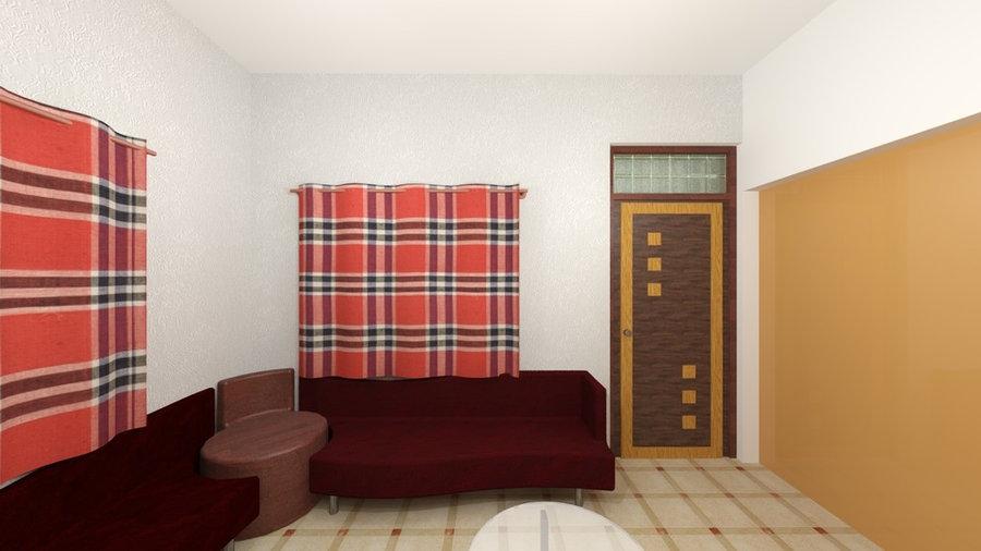 Drawing room 3D Render Design View 5