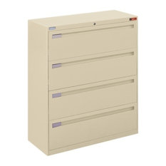 "Spectrum Four Drawer Lateral File - 42""W Putty"