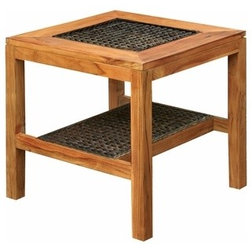 Tropical Outdoor Side Tables by Chic Teak
