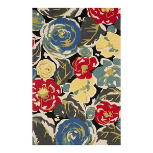 "Safavieh Ross Rug, Black and Multi, 3'6""x5'6"""