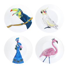 Classy Birds Side Plates, Set of 4